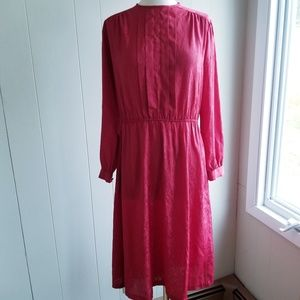 1970s Edition II Red Poly Dress